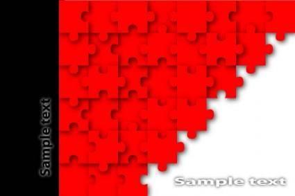 free vector Brilliant puzzle 02 vector