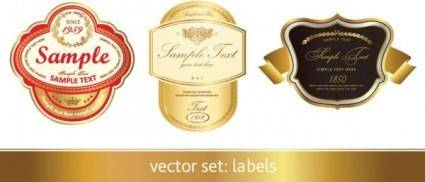 free vector Gorgeous classic bottle label 01 vector