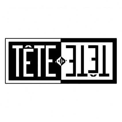 free vector Tete a tete