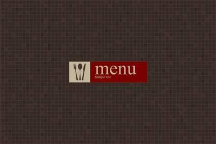 free vector Western menu vector 2