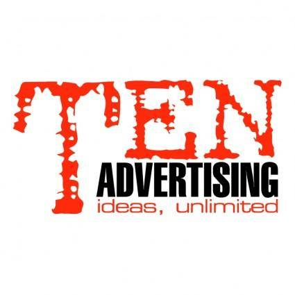 free vector Ten advertising