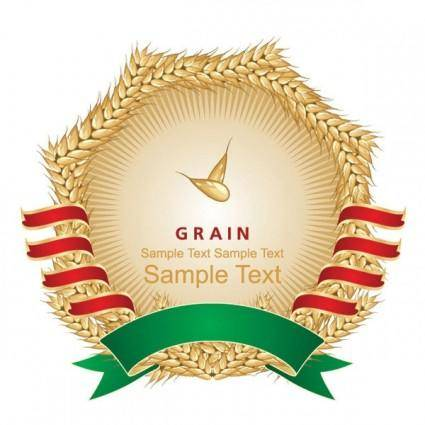 Wheat and labels 02 vector