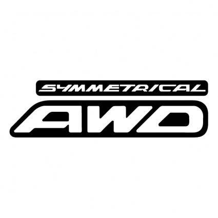 free vector Symmetrical awd