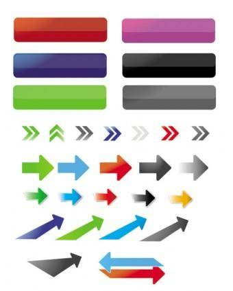 free vector Fine arrows and buttons vector