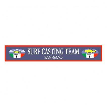free vector Surf casting team
