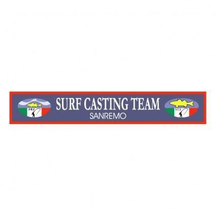Surf casting team