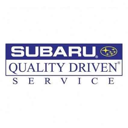 Subaru quality driven service