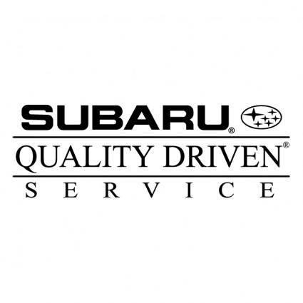 Subaru quality driven service 0