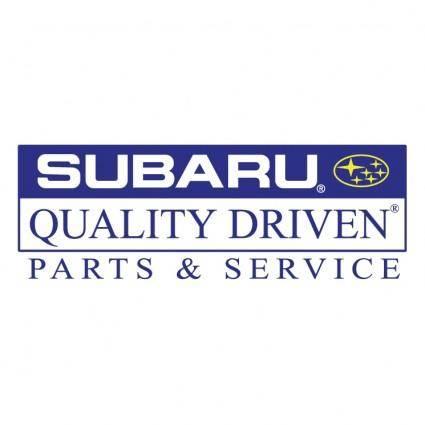 Subaru quality driven parts service