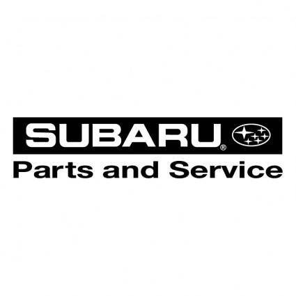 free vector Subaru parts and service