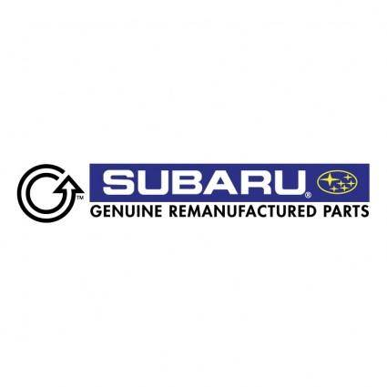 free vector Subaru genuine remanufactured parts