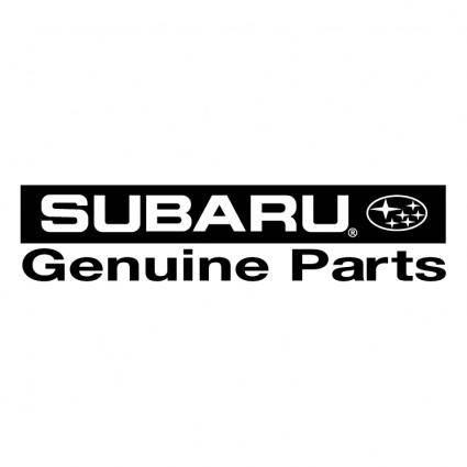 free vector Subaru genuine parts