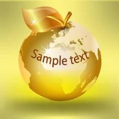 free vector Apple earth vector 1