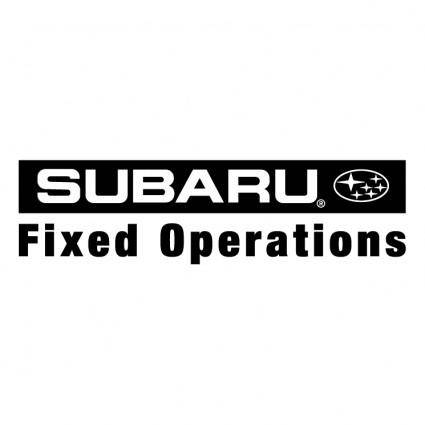 Subaru fixed operations 0
