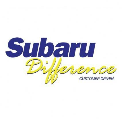 free vector Subaru difference