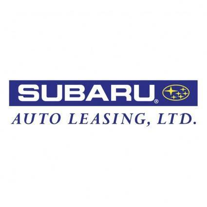 free vector Subaru auto leasing