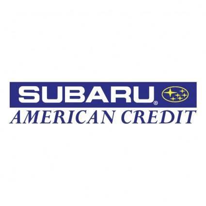 Subaru american credit