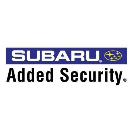 free vector Subaru added security