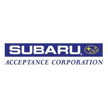 free vector Subaru acceptance corporation