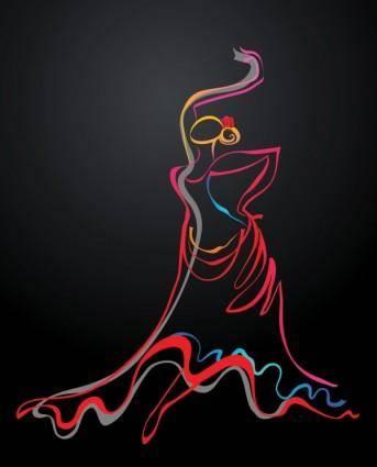 Color dance 02 vector