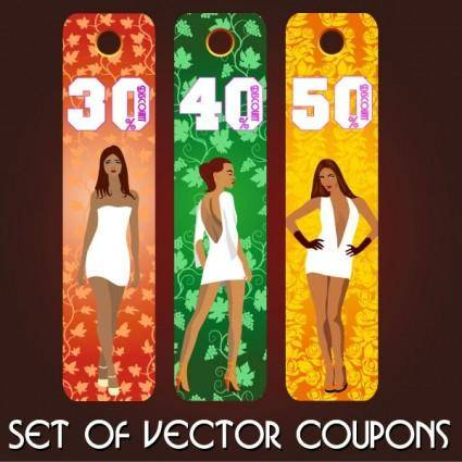 free vector Fashion label 03 vector