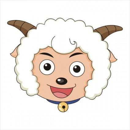 Vector pleasant goat avatar