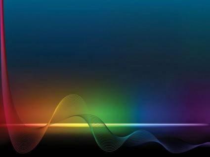 free vector Brilliant color dynamic flow line 01 vector