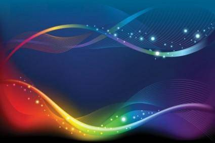 Brilliant color dynamic flow line 02 vector