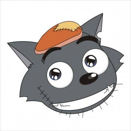 Vector wolf avatar
