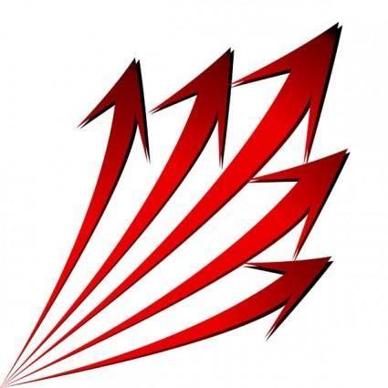 free vector Threedimensional arrow vector 2