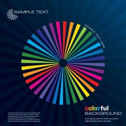 Color lines 01 vector