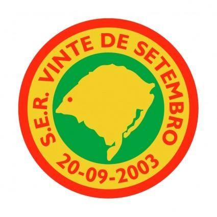 free vector Sociedade esportiva e recreativa 20 de setembro de uruguaiana rs