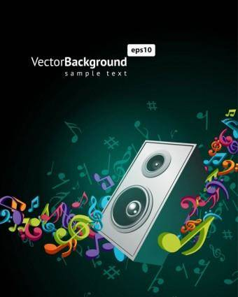Color music key symbols 05 vector