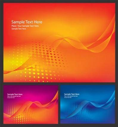free vector Brilliant dynamic flow line card 01 vector
