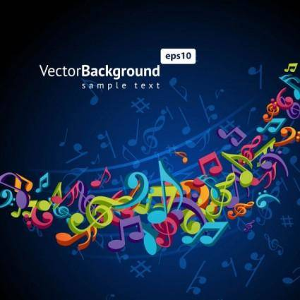 free vector Color music key symbols 02 vector
