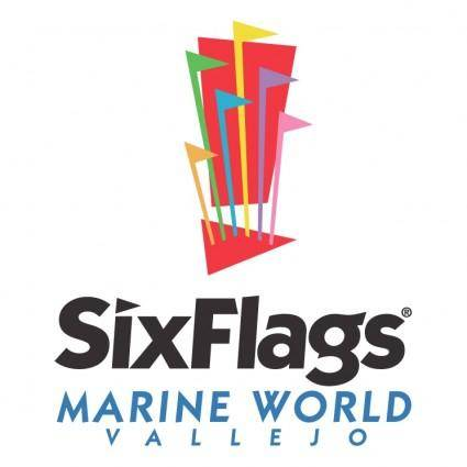 free vector Six flags marine world