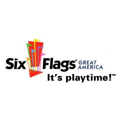 free vector Six flags great america
