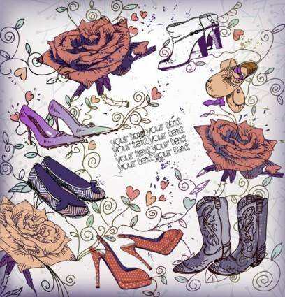 free vector Shoes fashion illustrator 04 vector