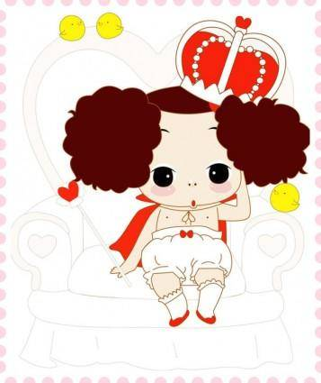 free vector Ddung confused doll vector