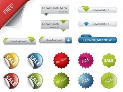 free vector Navigation and gorgeous labels vector
