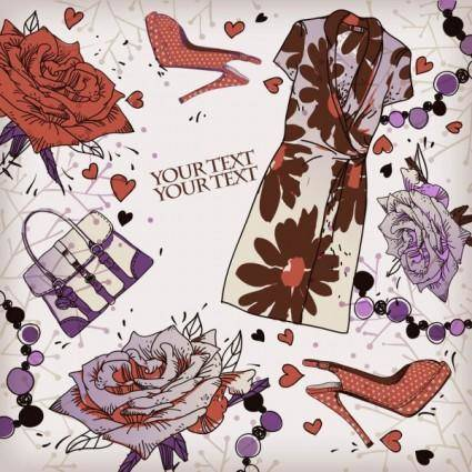 free vector Shoes fashion illustrator 02 vector