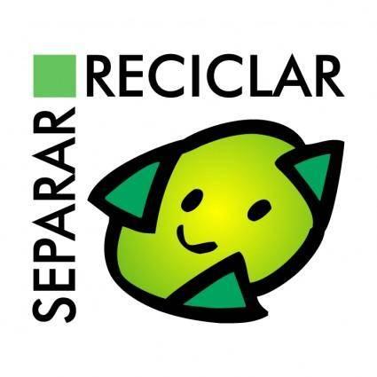 free vector Separar reciclar