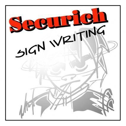 free vector Securich sign writing