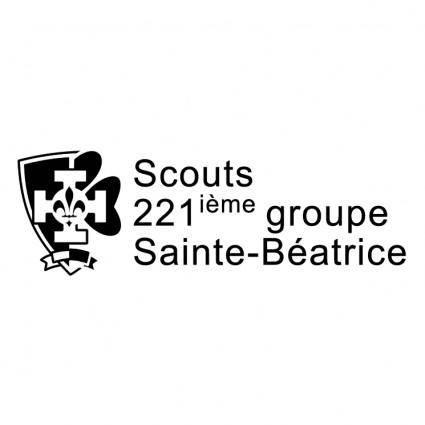 free vector Scouts sainte beatrice