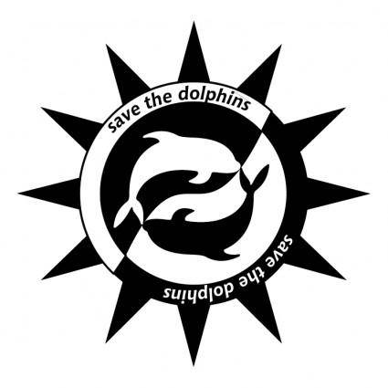 free vector Save the dolphins 1