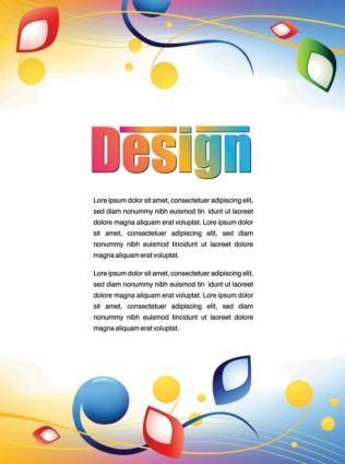 Colorful advertising posters 01 vector