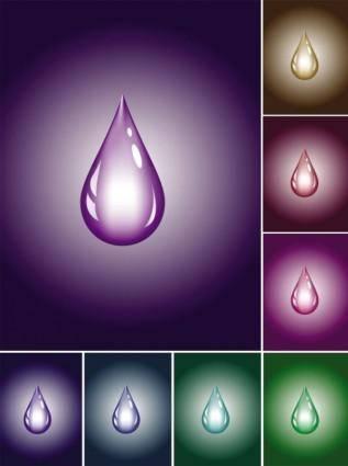 free vector Brilliant color drop vector
