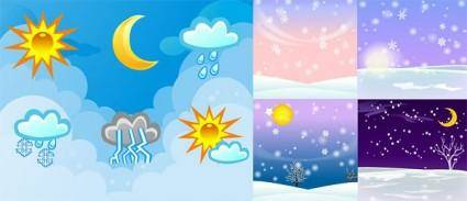 free vector Changes in the weather vector