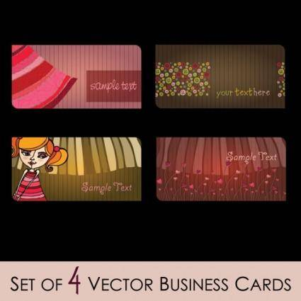 Fashion illustrator business card 02 vector