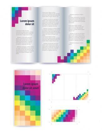 Delicate leaflets and brochures 02 vector